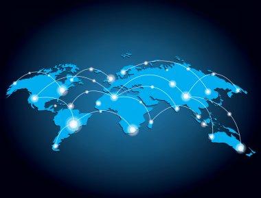 Glowing global network design vector illustration stock vector