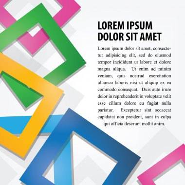 Colorful Abstract Square Background
