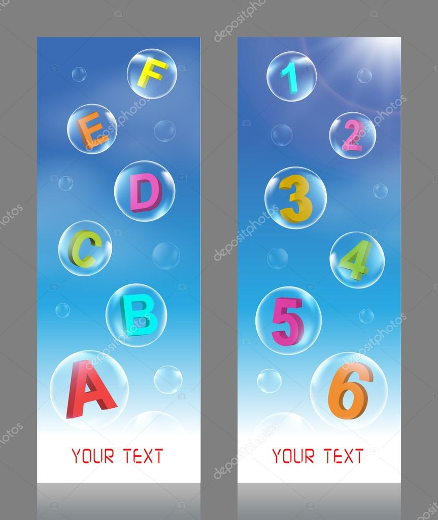 Alphabet and Number Bubbles vector illustration