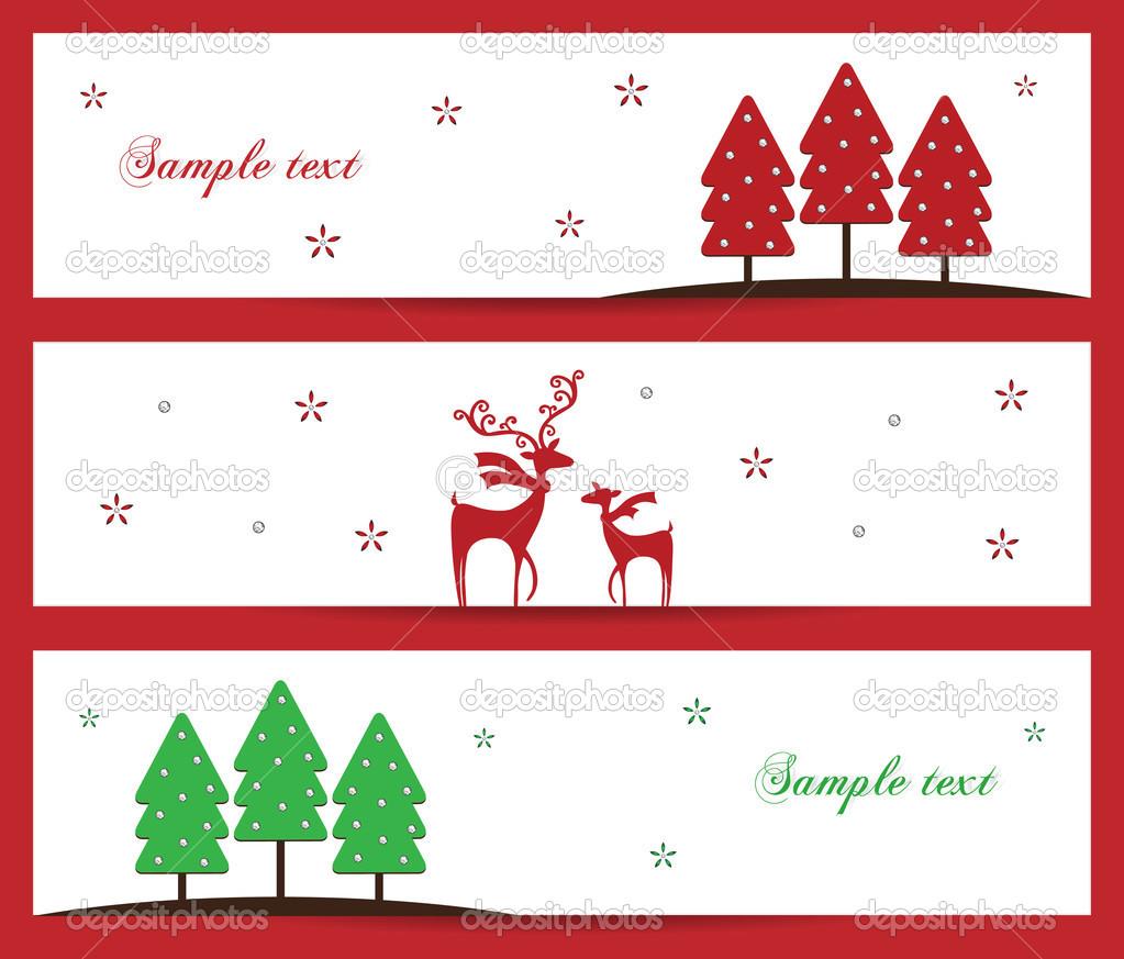 Stylish Christmas holiday banner design vector illustration