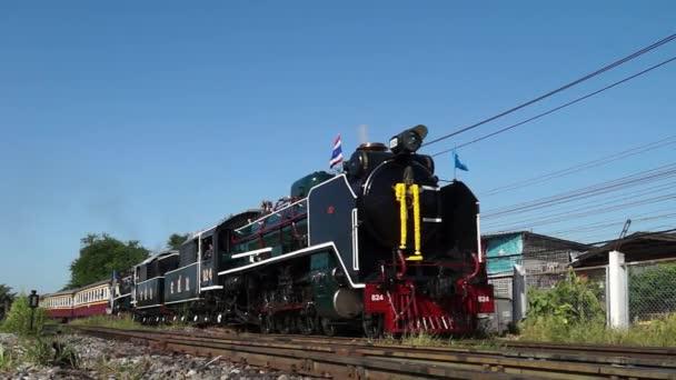 Bangkok, Thajsko - aug 12: zvláštní parní lokomotiva vlak