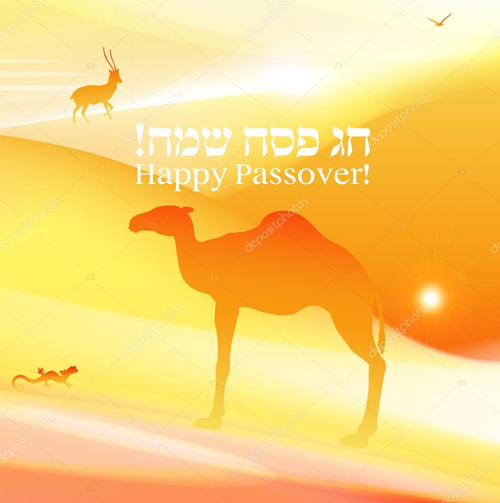 Passover vector background or card.