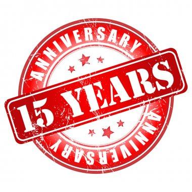 15 years anniversary stamp.