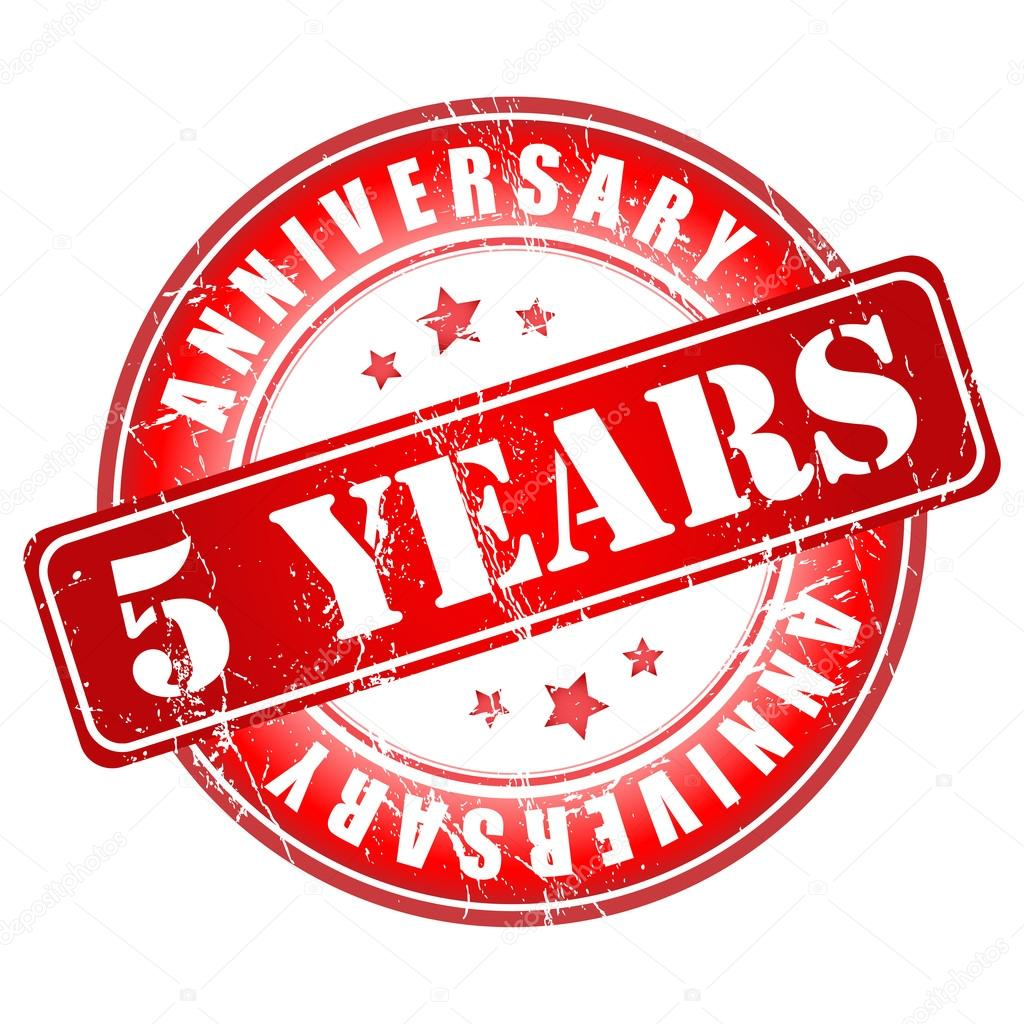 5 Years Anniversary Stamp Stock Vector Galastudio 36097565