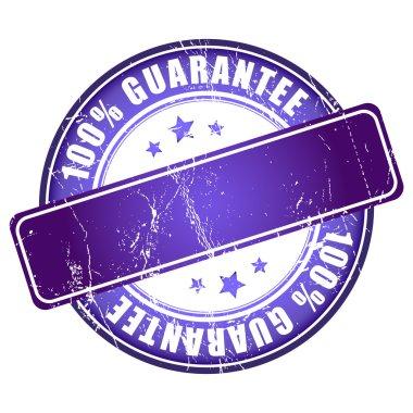 Violet guarantee stamp