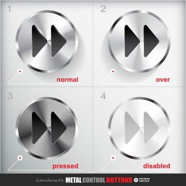 Metal Fast forward Button