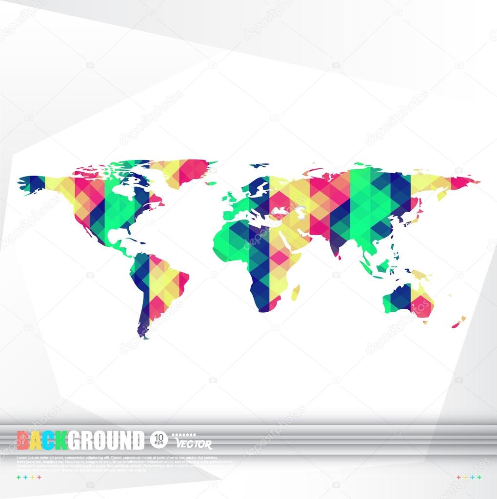 World map background in origami style stock vector galastudio world map background in origami style stock vector gumiabroncs Gallery