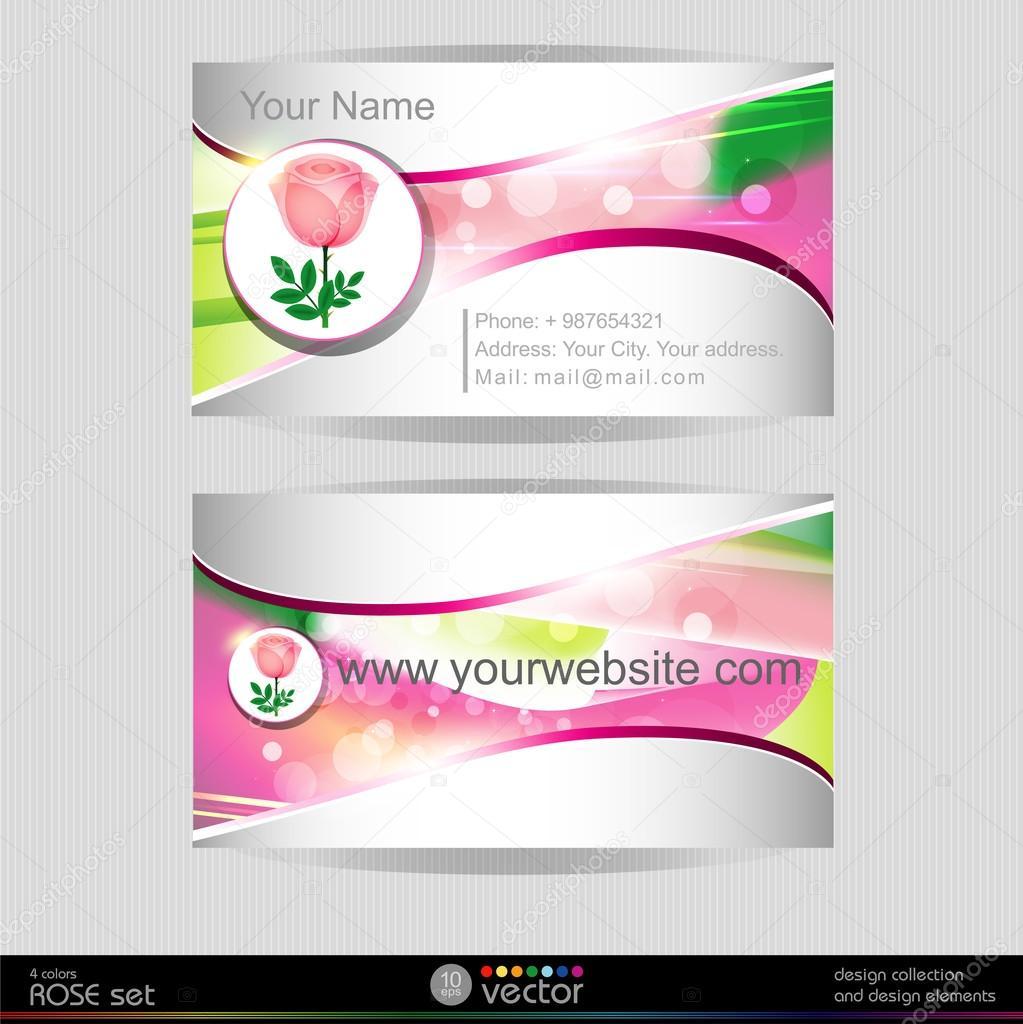 Carte De Visite Rose Image Vectorielle