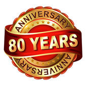 Fotografie 80 Jahre Jubiläum golden Label mit Band