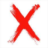 x - červená ručně psaný dopis