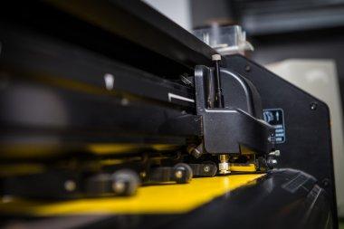 Large format printer in work stock vector