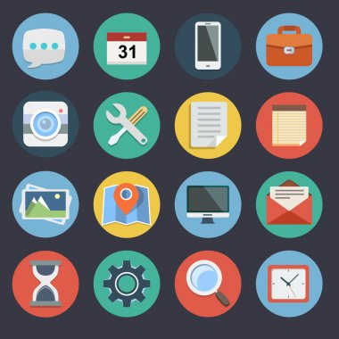 Flat Icons for Web and Applications Set 1