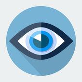 Piatto icona occhio