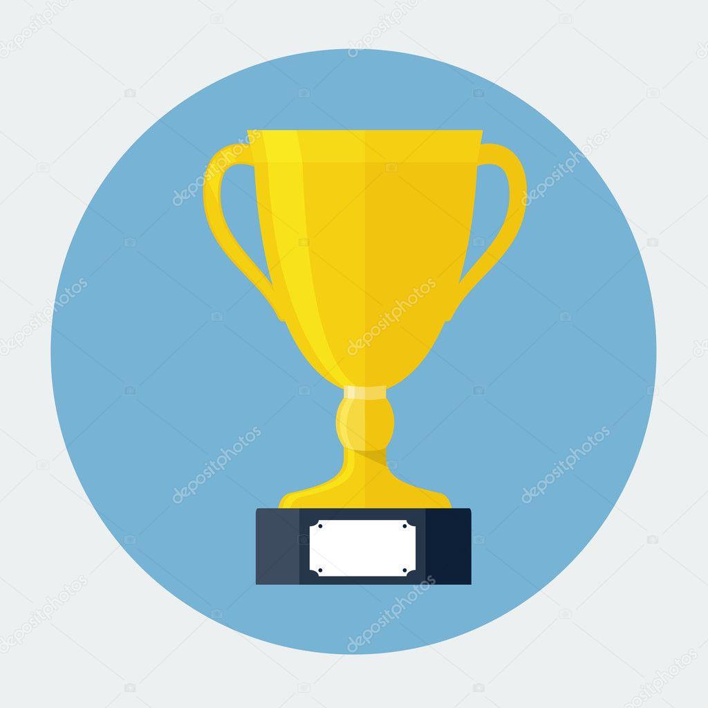 Trophy Cup Flat Icon — Stock Vector © dacianlogan #44053181