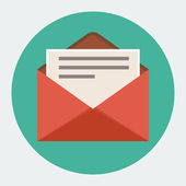 Photo Vector Flat mail icon