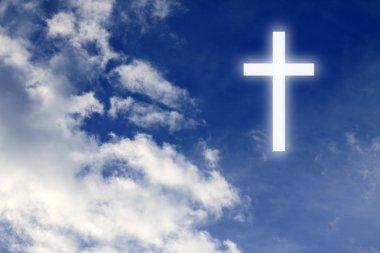 Religion. Christian cross in the sky