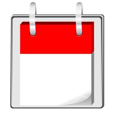 Blank calendar clip art
