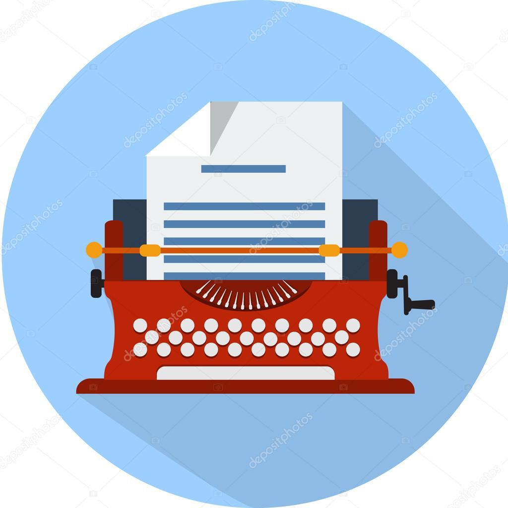 Typewriter   flat icon