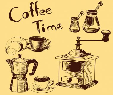 Coffee time, seamless background