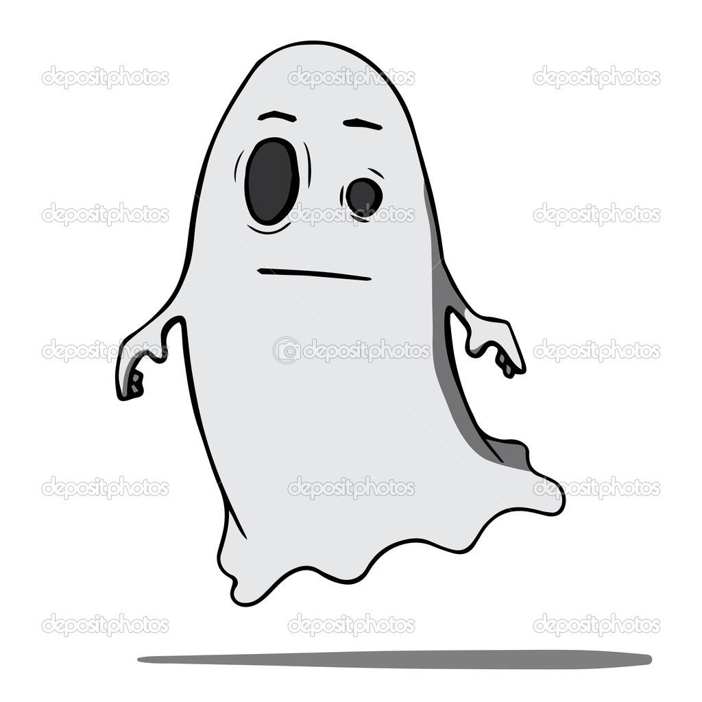 Fantasma di cartone animato divertente illustrazione