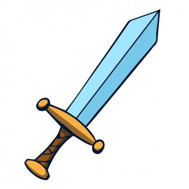 Cartoon sword. Vector illustration