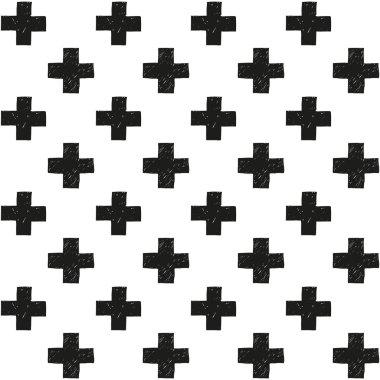 Scandinavian trend seamless pattern