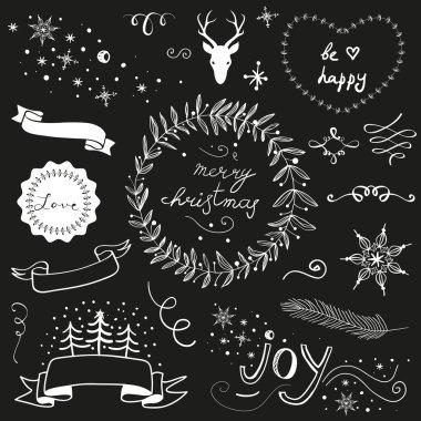 Christmas doodle chalkboard set