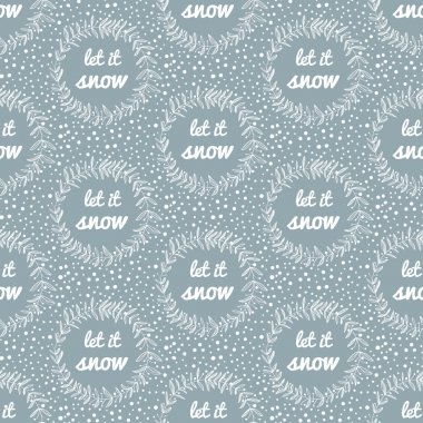 Let it snow seamless pattern.