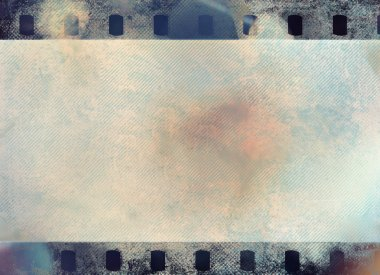Great colour dark film strip for textures and backgrounds with light leak