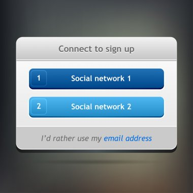 Connect to sign up page