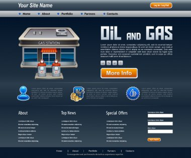 site about oil and gas