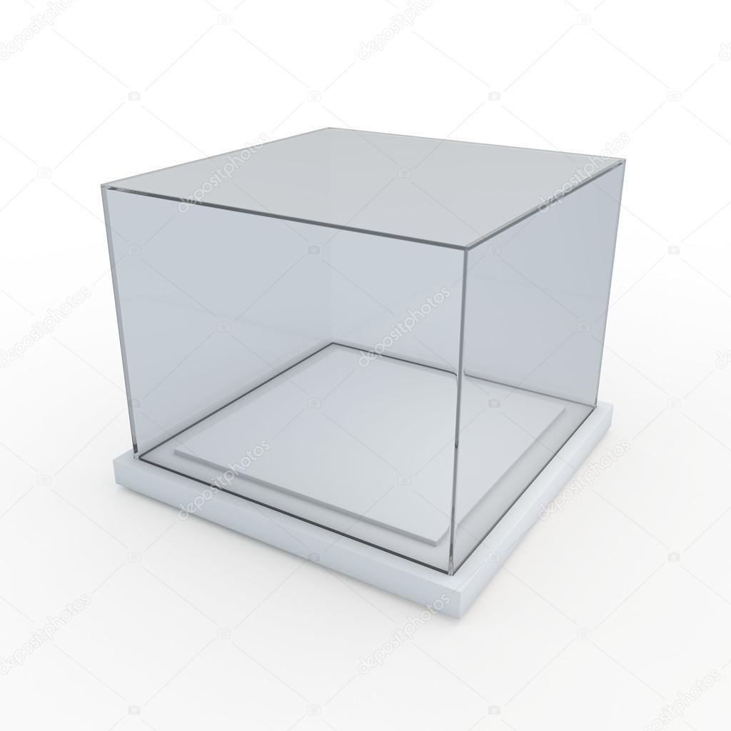 3d exhibit box empty glass stock photo vector3d 35762489. Black Bedroom Furniture Sets. Home Design Ideas
