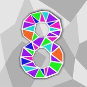 barevné číslo 8. Obrázek geometrických tvarů.