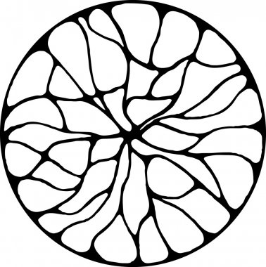Black and White Abstract Circle Design