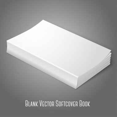Blank softcover book.