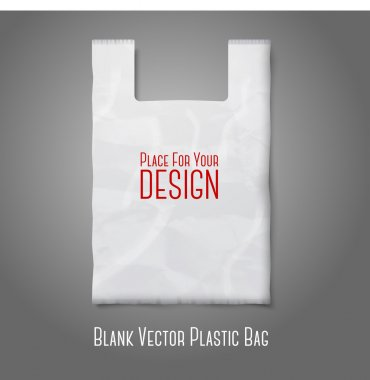 Blank white plastic bag