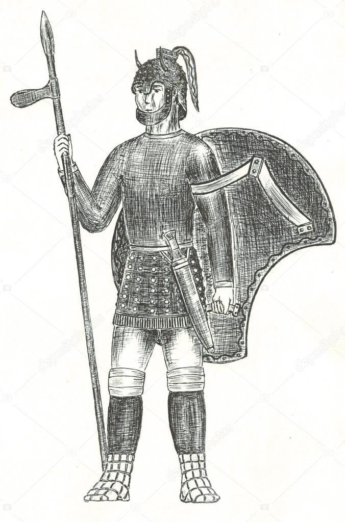 Achilles, the Trojan war — Stock Photo © satury #35602845