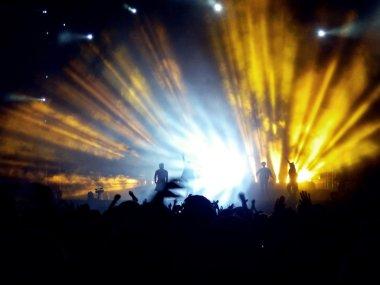 Lightshow at concert