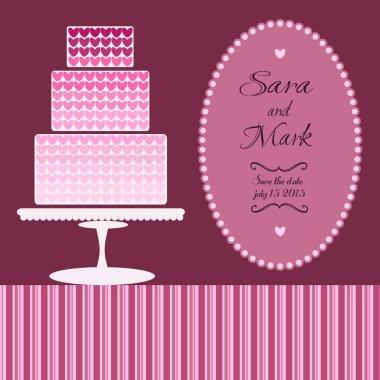 Wedding vector card