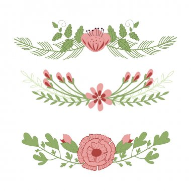 Spring flowers for bouquets in vintage style stock vector