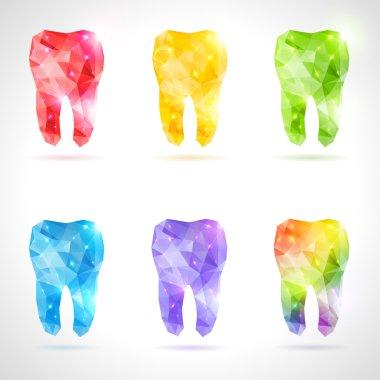 Polygonal vector set of teeth