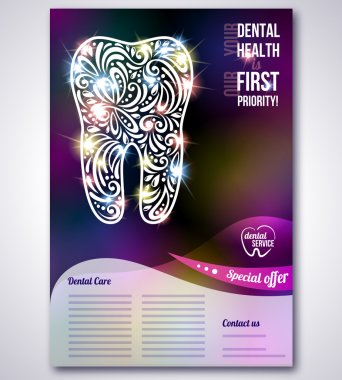 Dental brochure, flyer, magazine cover & poster template.