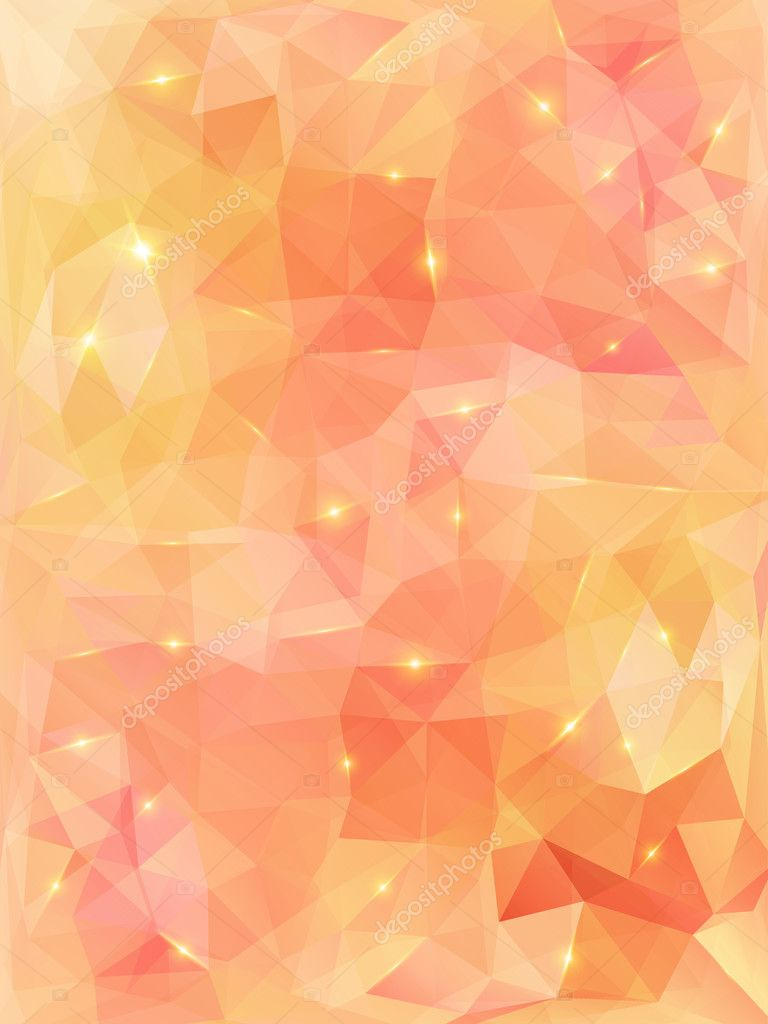 Light orange abstract polygonal background. — Stock Vector ... for Background Pattern Light Orange  55dqh