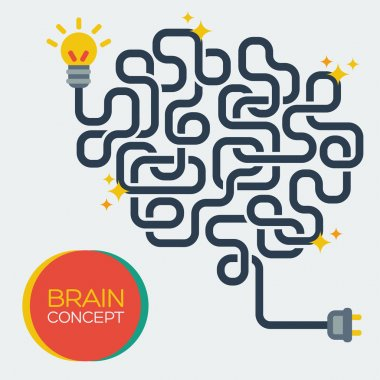 Creative concept of the human brain, vector illustration.