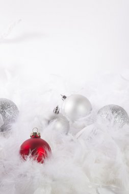 Christmas Ornamets on White Background