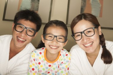 Happy Family with Glasses
