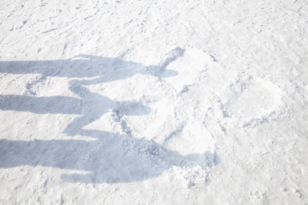 Shadows of Family on the Snow