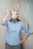 Fényképek munkavállaló visel maszkot