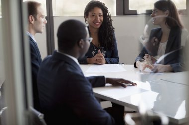 Business people discussing at a business meeting