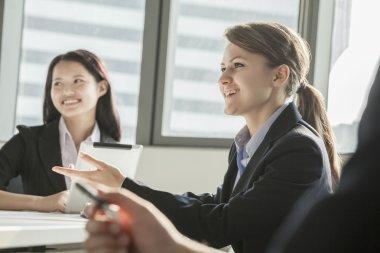 Businesswomen during a business meeting